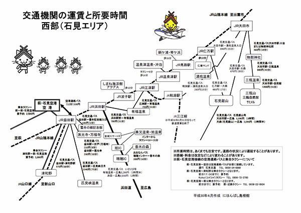 島根県内交通ガイド(西部)